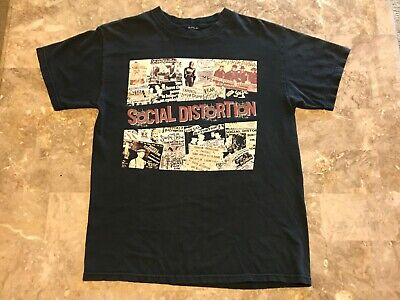 Vintage 90s SOCIAL DISTORTION Punk Rock Band T-Shirt Adult Size Medium RARE