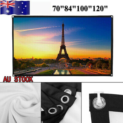 "70/84/100/120"" Projector Screen 16:9 HD Outdoor Projection Foldable Home Theater"