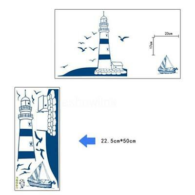 Lighthouse Seagull Sailboat Wall Stickers Decal Bedroom Living Room DIY SO
