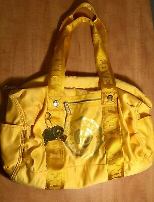 15f3cbbcff59b5 Victoria's Secret LOVE PINK Sport & Gym Travel Duffle Bag Yellow Gold-Tone  Charm