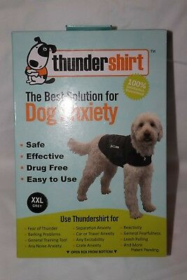 Thundershirt Heather Grey XXL Extra Large Dog Anxiety Wrap Jacket