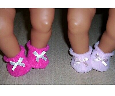 """BABY BORN BOOTIES 16/ 17"""" 43cm DOLLS x 2 pair Shoes Doll Clothes"""