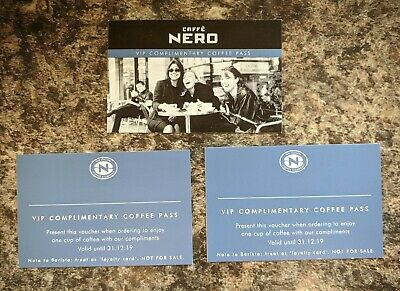 CAFFE NERO - 3 x VIP Complementary Coffee Passes