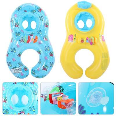 Mother and Baby Summer Inflatable Swimming Pool Raft Floating Seat Safe Ring