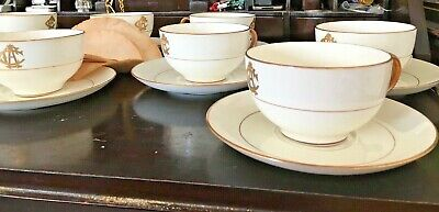 Tiffany & Co Embossed Minton China White/Gold Encrusted Tea Cup/Saucer Set!~Rare