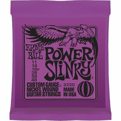 Power Slinky Ernie Ball 2220 Nickel Electric Guitar Strings for Rock Blues 11-48