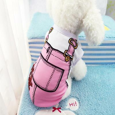 Cartoon Pet Puppy Vest Small Pet Cat Clothes Little Dog Lovely Apparel NEW SO