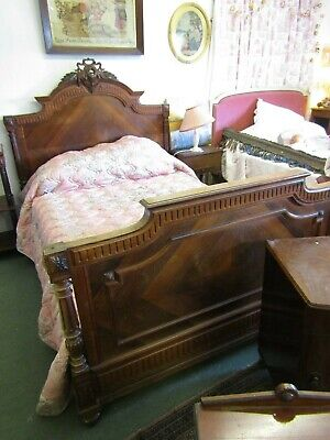 Super Antique French Rosewood Carved Double Bed