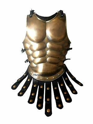 Medieval Roman Muscle Chest Armour Jacket Brass Antique Finish Warrior COSTUME