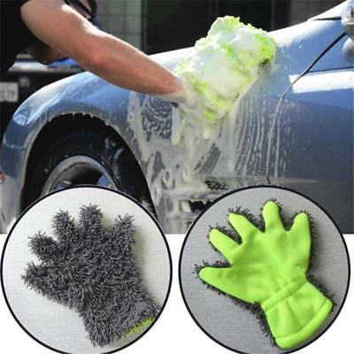 Super Microfiber Car Wash Washing Cleaning Glove Chenille Gloves SO