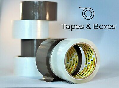 60 rolls of BROWN, CLEAR, FRAGILE stikky TAPE 48mm x 66m  with FREE dispenser