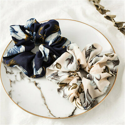 2019 New Spring Flower Hair Scrunchies Ponytail Holder Soft Stretchy Hair Ties