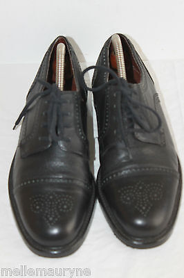 Derby Shoes Lace up Jean Charles Clement Black Leather T 41, Vgc ,