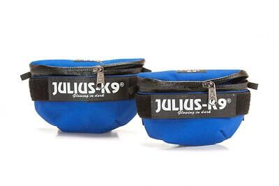 Julius-K9 IDC Universal Side Bags for Dogs, Harness Size: Mini to 4, Blue, blue