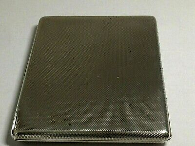 Antique 925,Solid Sterling Silver Engine Turned Cigarette/Card Case. 143.Grams