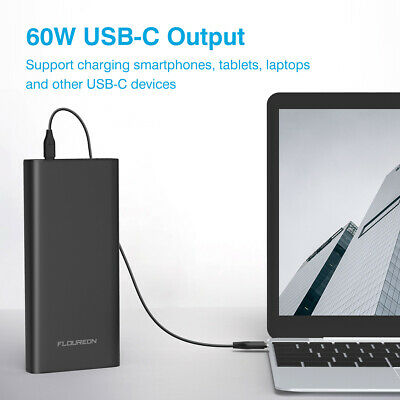 Floureon Power Bank 26800mAh 96.5Wh Extern Akku Type-C Input Output Für Laptop