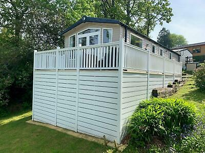 Static Caravan Sited On Perfect Plot North Wales Massive Decking System