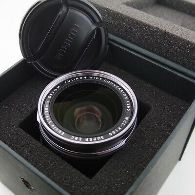 Fujifilm WCL-X100 Wide-Angle Conversion Lens Silver with in box