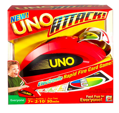 UNO Attack Electronic Family Card Game Classic Rapid Fire NEW