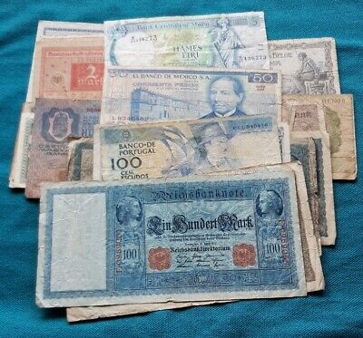 50x Used World Bank Notes