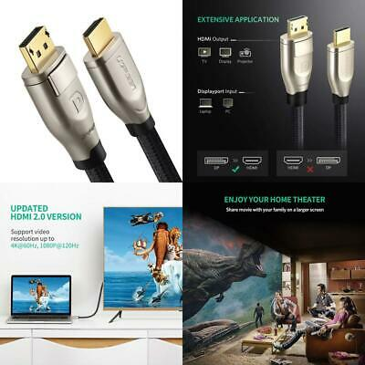 UGREEN Active DP to HDMI Cable, 4K 60Hz 2 Meter Displayport Adapter Cable...