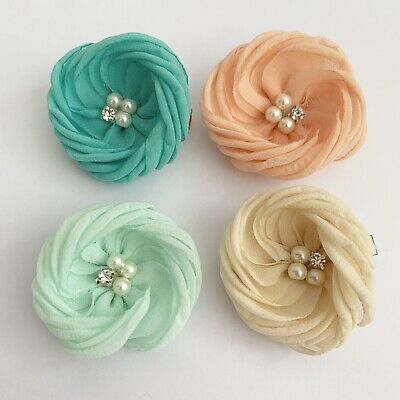 Clibella SALE! 4 Packs Of Big spring flower Hair Clips/girls Accessories/flower