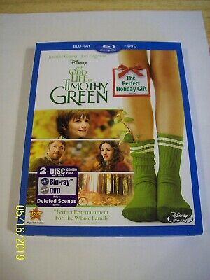 Disney...the Odd Life Of Timothy Green...2 Disc Combo....blu Ray With Case...pg