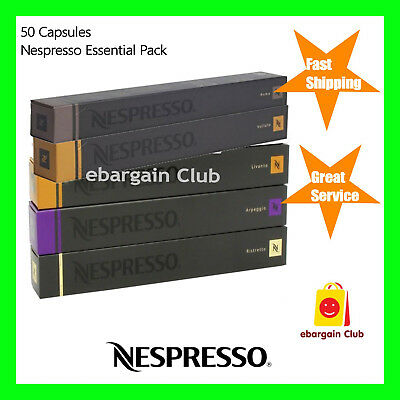 50 Capsules Nespresso Coffee Essential Variety Pack Mixed Pods Top 5 Popular eBC
