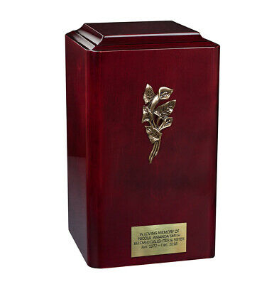 Italian Wooden Cremation Urn for Adult Unique Memorial Ashes Funeral Urn Casket