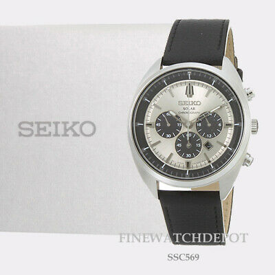 Authentic Seiko Core Men's Solar Chronograph Recraft Series  Watch SSC569
