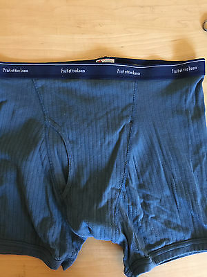 2Xl Vtg Fruit Of The Loom Ribbed Cotton Old School Full Rise Boxer Brief Trunk