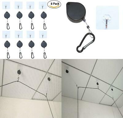 Pack of 8 HTC VR Headset Retractable Ceiling Cable Management and Adhesive...