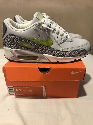 2007 NIKE AIR Max 90 Premium SZ 9.5 White Safari Neon Volt