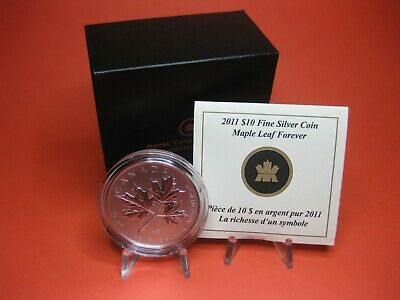 2011 $10 Fine Silver Coin - Maple Leaf Forever