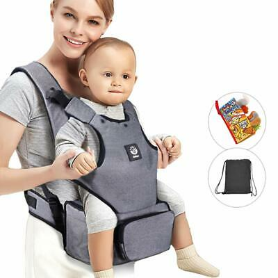 Baby Carrier with Hip seat and Baby Diaper Bag 2-in-1 by Unihope,360° Ergonomic,