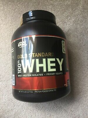 ON Gold Standard 100% Whey 24g Protein Powder 5lbs. Exp:10/2020