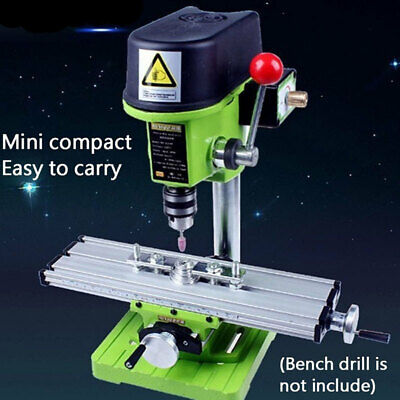 Mini Milling Machine Bench Fixture Worktable X Y-axis Slide Table Drill Vise