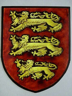 Beautiful Stained glass.LIONS.Hand painted.Kiln fired.225 x180mm.Antique style.