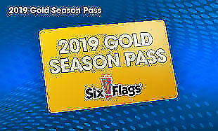 (1) One 2019 Six Flags Gold Season Pass Valid At All Parks + Free Parking