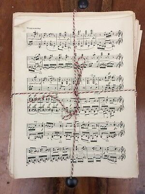 Vintage Sheet Music - 25 pages - Ideal for Decoupage, Art Projects,Crafting.