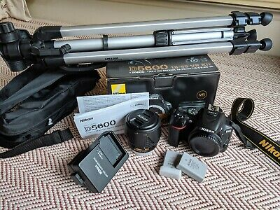 Nikon D5600 DSLR with 18-55 VR Lens Kit (with extras)