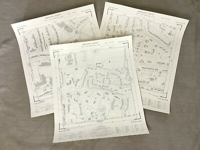 Vintage Map of Hampshire Farnborough Town Planning National Grid Job Lot Maps