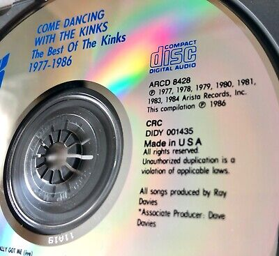 The Kinks Come Dancing With Kinks The Best Of CD DADC PRESS Arista A2CD 8428 OOP