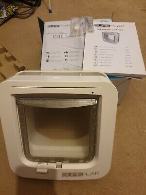 SureFlap Microchip Cat Flap White (Vet recommended security/safety) rfid
