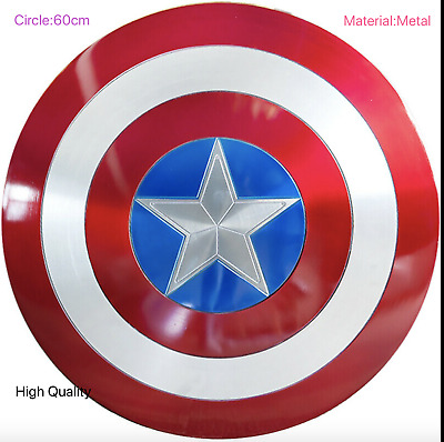 New Captain America Shield 1:1 Full Aluminum Metal BATTLE DAMAGE Cosplay Props