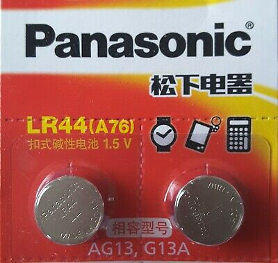 2Pcs Watch battery SR/LR44, AG13, A76, L1154, 303, 357, 1.5V Exp. 2022. Tax Free