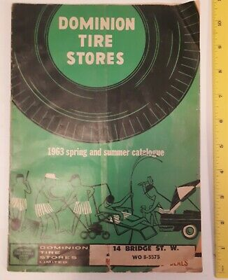 """Rare Vintage (London,Ont) """"1963 Dominion Tire Stores Spring & Summer Catalogue"""""""