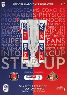 * 2019 LEAGUE ONE PLAY-OFF FINAL - SUNDERLAND v CHARLTON ATHLETIC (26th May) *