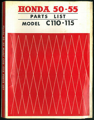Parts List HONDA C 110 -C 115 (C 111 C 114) 50 /55 cc Catalogue de pièces Manuel