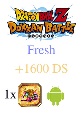 +2200 DS + 1 LR - Android Fresh Global Account Dokkan Battle